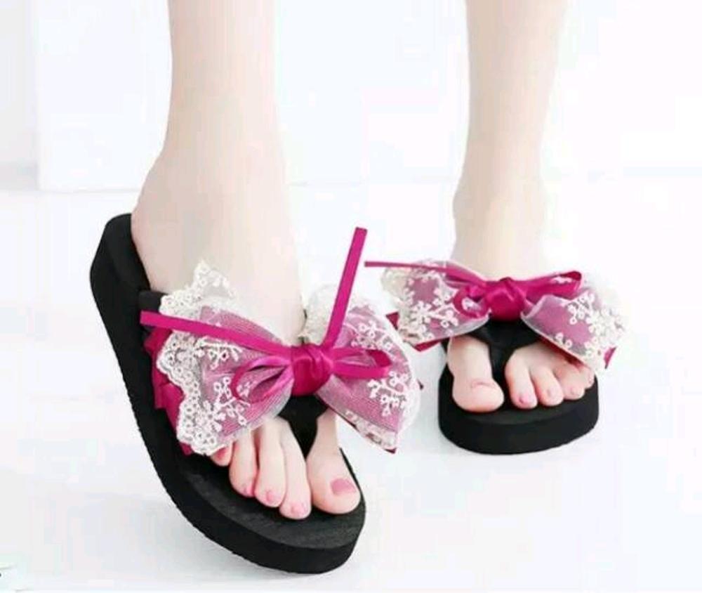 EZELL SHOP Sandal Jepit Santai Wedges Pita Renda Hitam MurahIDR69900. Rp 69.900