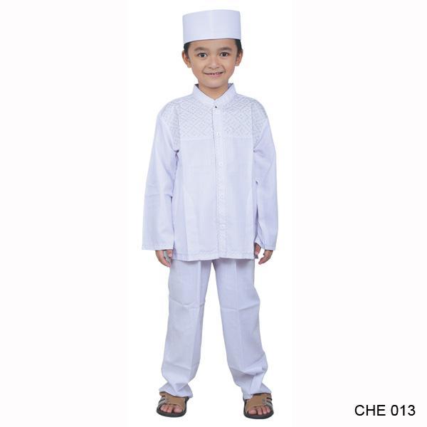 Catenzo Junior Baju Koko Anak Laki-Laki Putih - CHE 013
