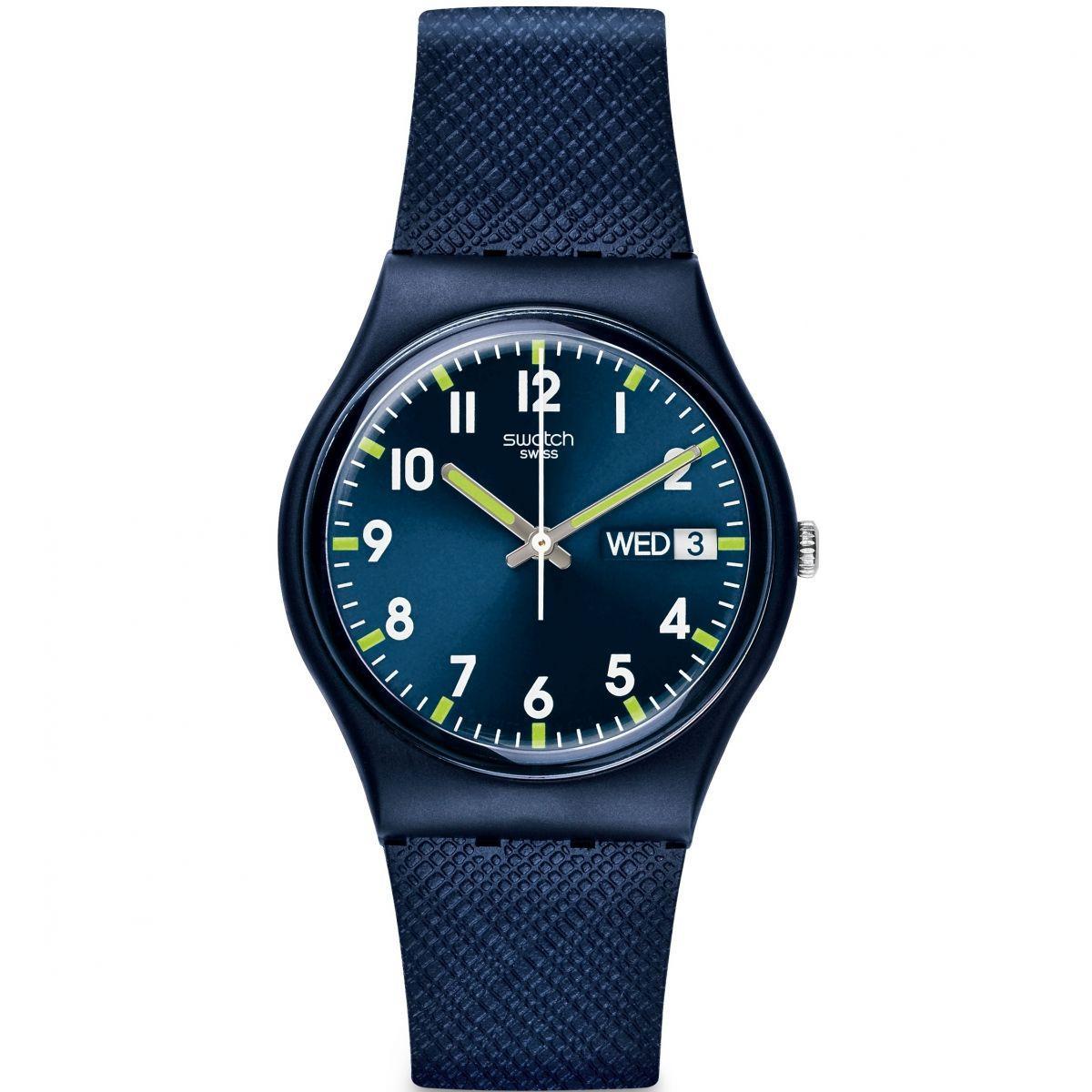 Swatch - Jam Tangan Wanita - Biru - Rubber Biru - GN718