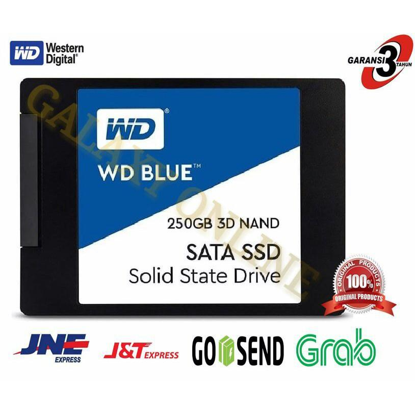 SSD WD Blue 250GB - SATA3 3D NAND Variasi Tidak Ada