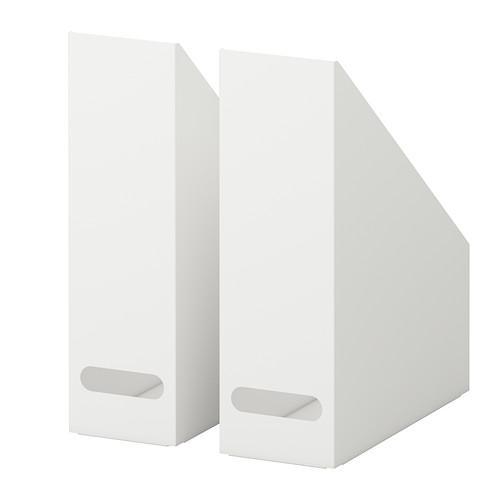 PROMO!! IKEA KVISSLE File majalah, set isi 2, putih MURAH /  BUBBLE 3 LAPIS / ORIGINAL / IKEA ORIGINAL