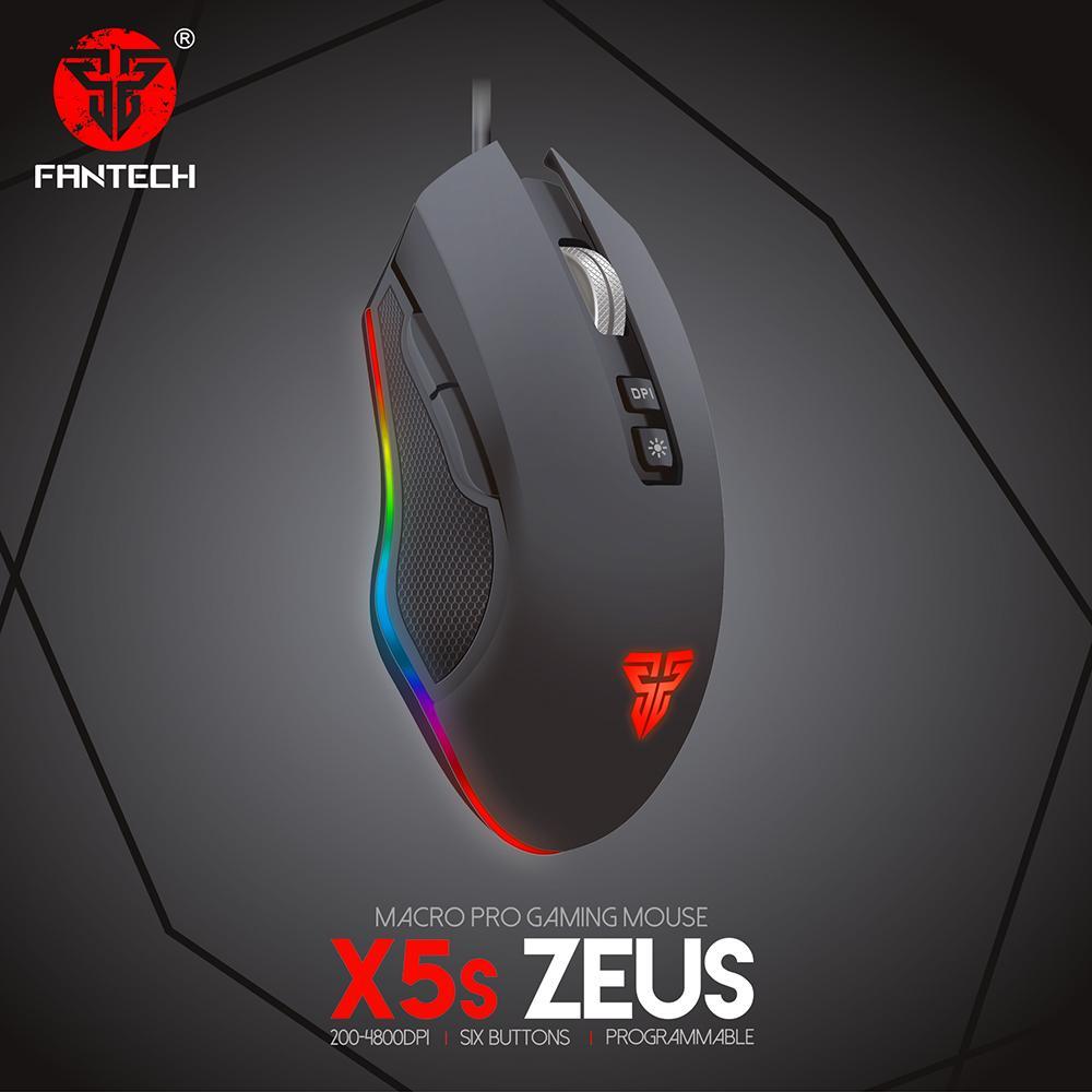 Fantech Mouse Gaming X5s ZEUS Running RGB Macro