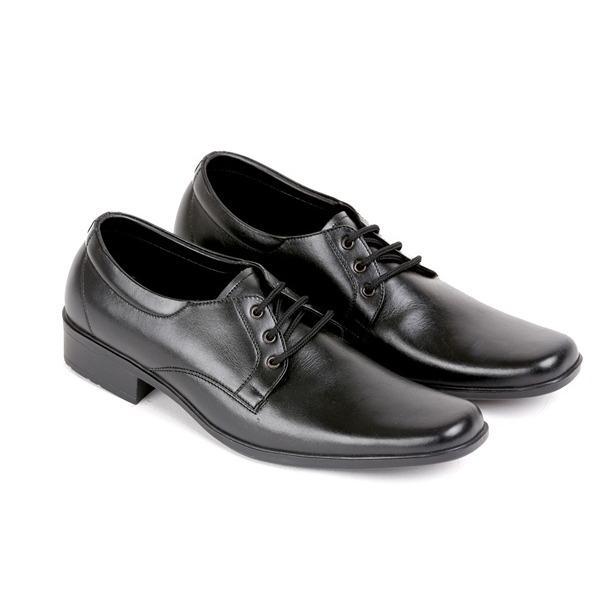 kickers Sepatu Pantofel Pria kulit sapi asli bertali formal dinas kerja resmi hitam