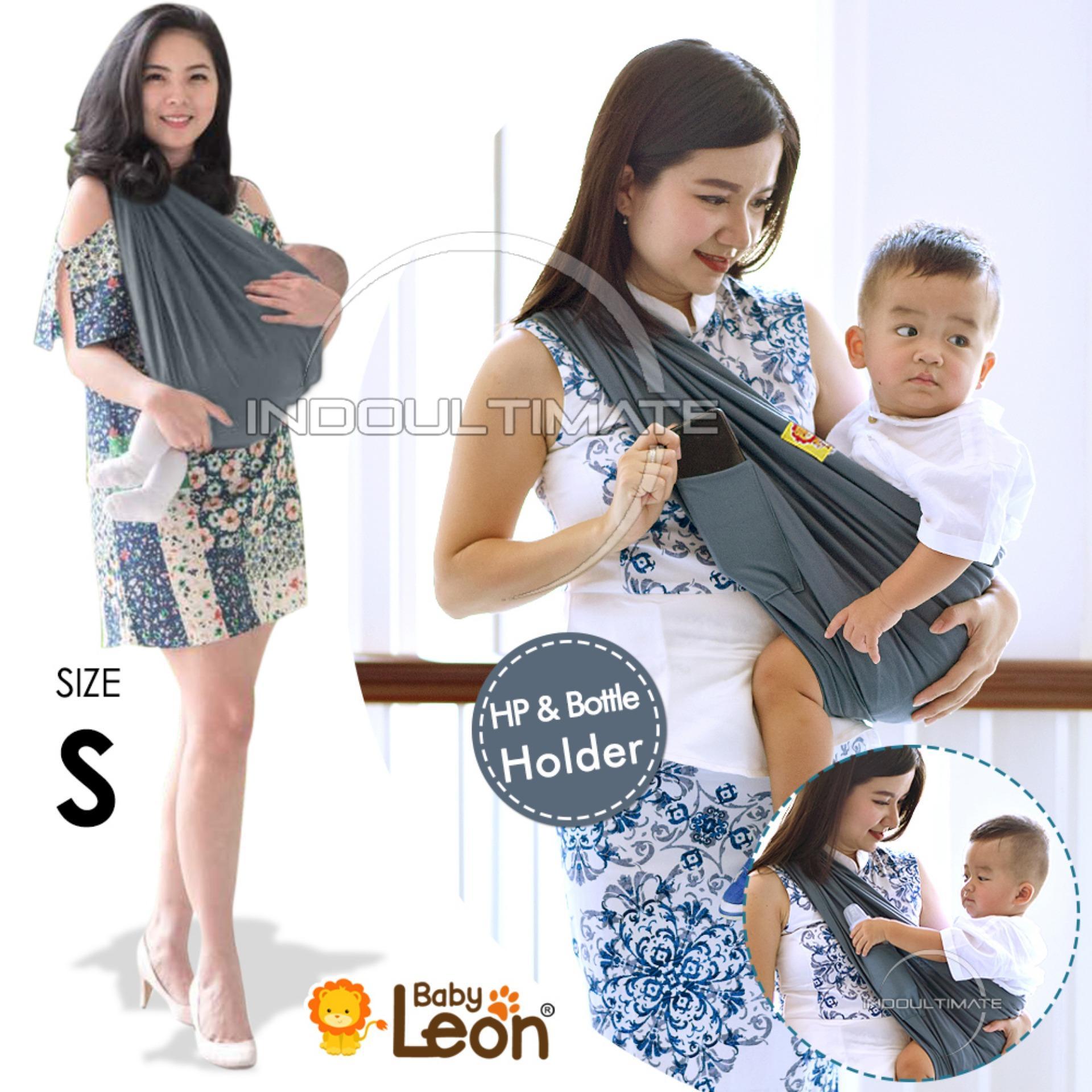 BABY LEON Gendongan Bayi Kaos/Geos/selendang Bayi Praktis BY 44 GB Polos Ukuran S