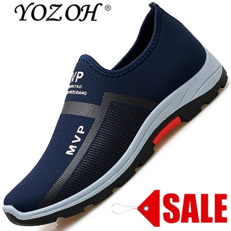YOZOH Baru Paling Populer Gaya Pria Sepatu Lari Kolam Berjalan Sepatu Kets Nyaman Sepatu Atletik, Pria For Olahraga-Intl