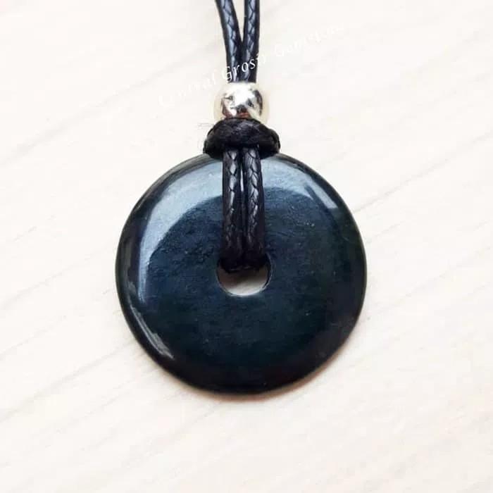 Liontin Batu Giok Hitam Black Jade Asli Natural By Central Grosir G3mstone.
