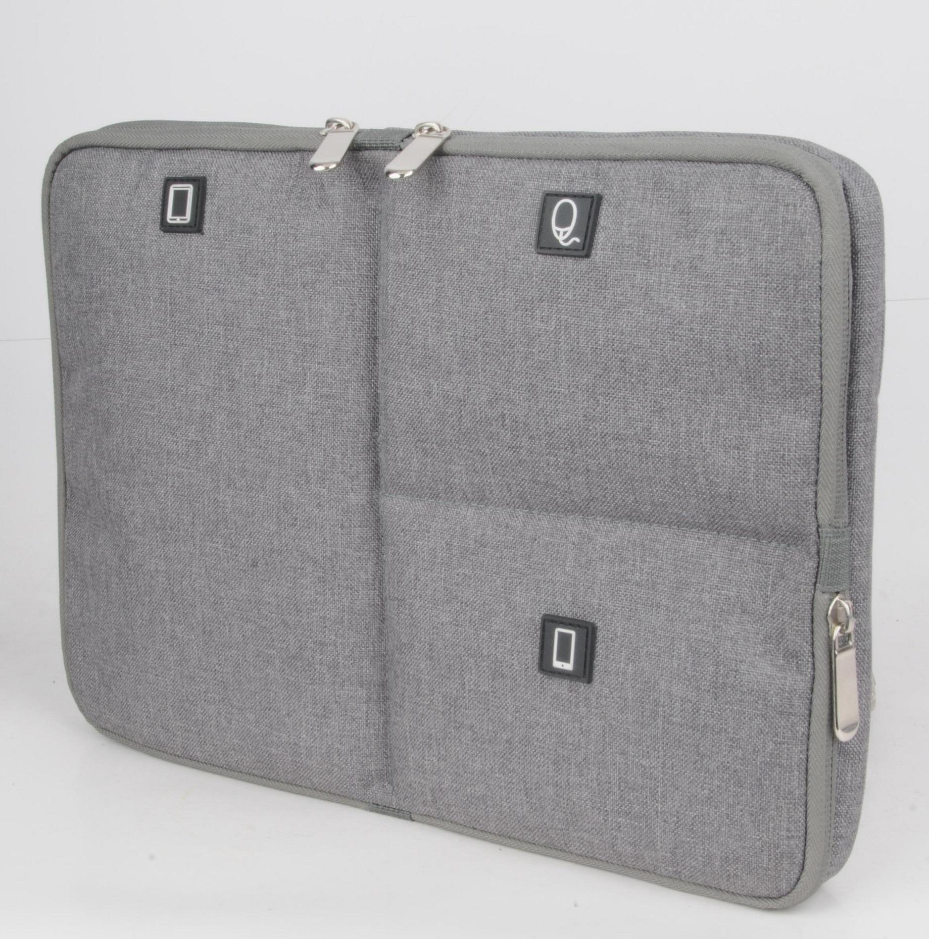 Techwaves 13.3-inch Multifunctional Laptop Sleeve, Water Resistant, Shock Resistant, for MacBook, MacBook Air, MacBook Pro, HP, Dell, Lenovo, Acer, ASUS, Toshiba, Notebook Chromebook Protective Carrying Case, Grey