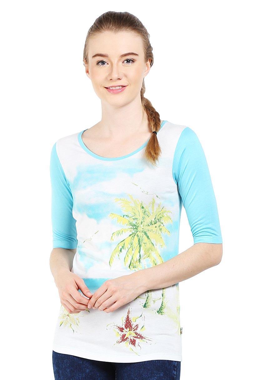 Cardinal Girl Fashion Pakaian T-Shirt Wanita Gaiar00032D.02B T-Shirt Blue