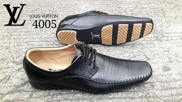 MURAH FREE BONUS sepatu kerja formal Louis Vuitton pantovel kulit asl - yPfd2I
