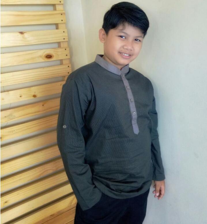 Pakaian Baju Atasan KemajaGamis Koko Anak Remaja Tanggung ZHAFRAN