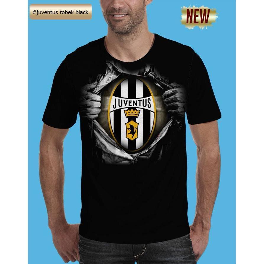 Kaos 3D Juventus Robek Black