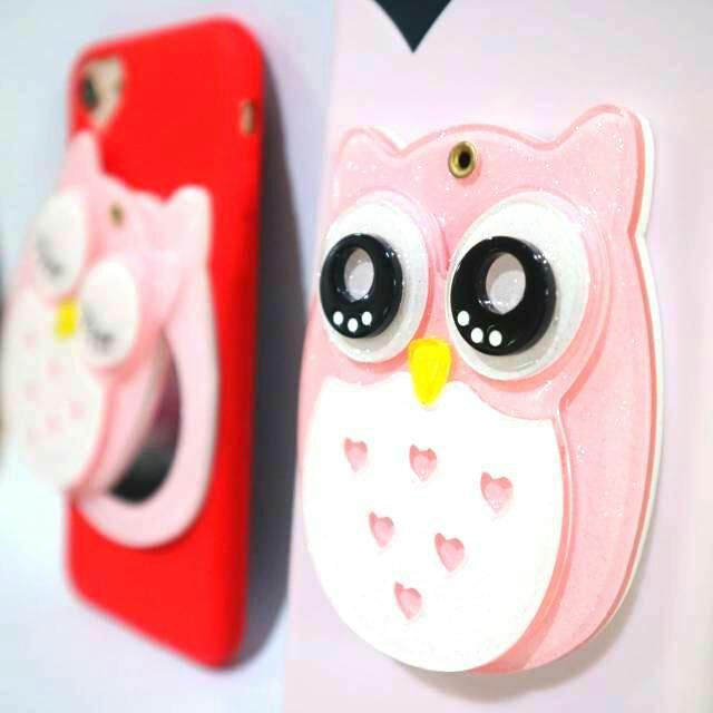 CASEOUTFIT OWL MIRROR Case iPhone 5 5s SE 6 6Plus 7 7 Plus 8 8Plus X