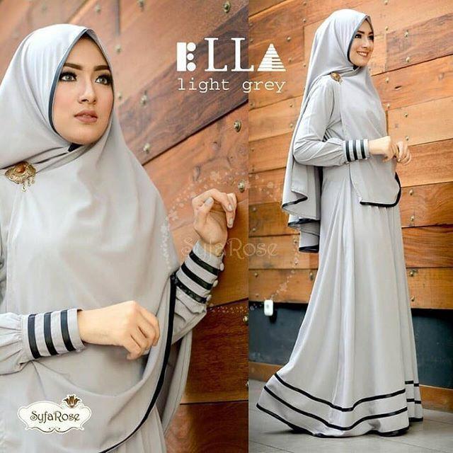 Terbaru Ella Syari Dress / Gamis Syari / Hijab syari / Bahan Wolfis / Busui Friendly (Tosca)
