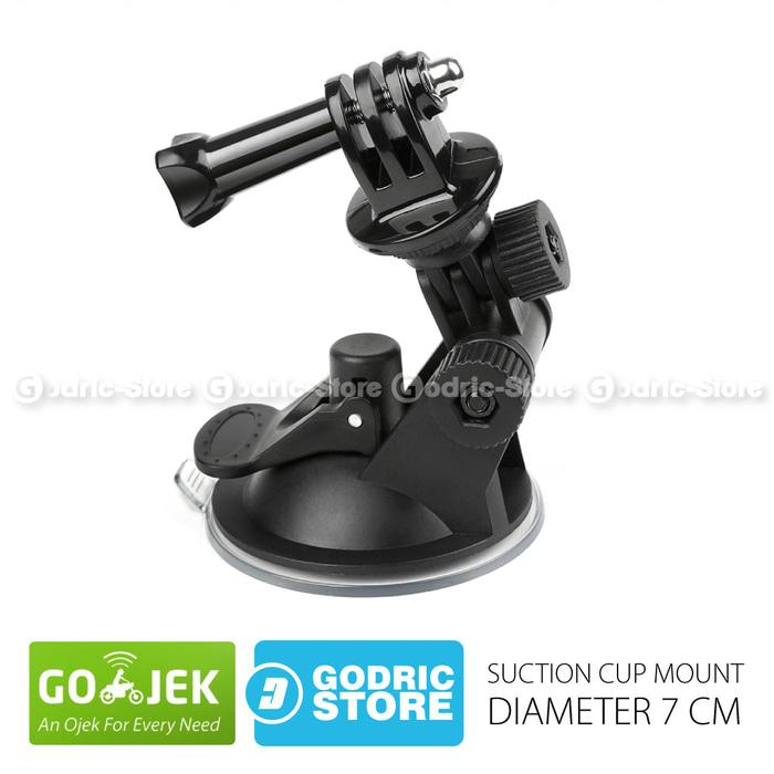 GoPro Suction Cup 7 CM with Tripod Mount & Knob Screw for GOPRO, BRICA B-PRO & Xiaomi Yi Camera - Hitam