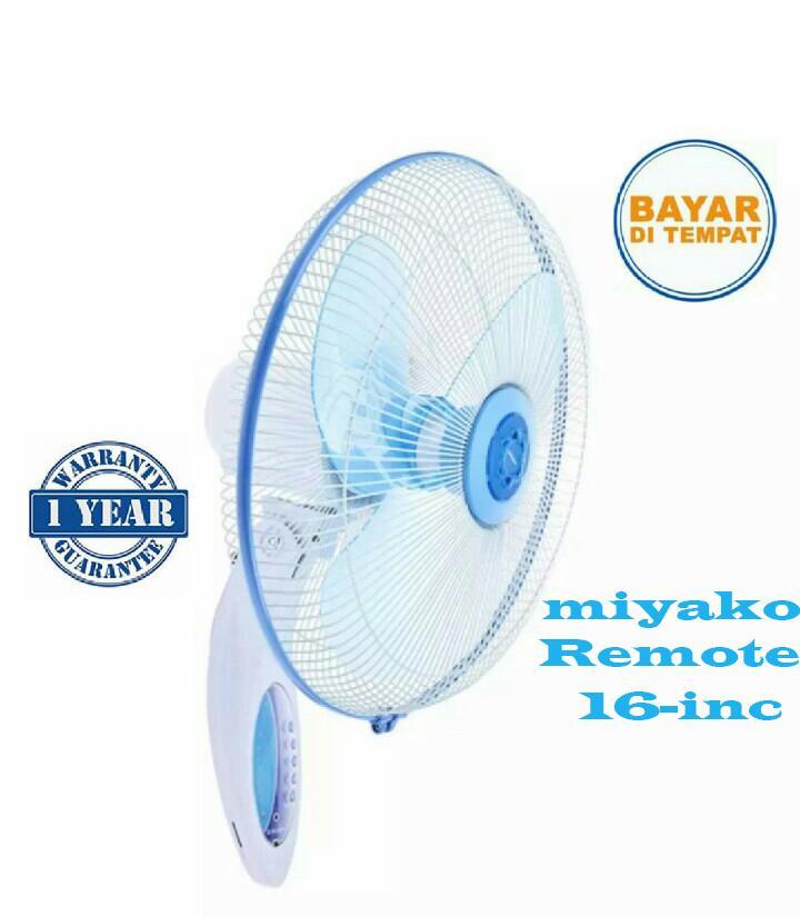 MIYAKO Kipas Angin Dinding Wall Electric Fan Remote KAW-1689 RC (GARANSI RESMI 1 TAHUN)