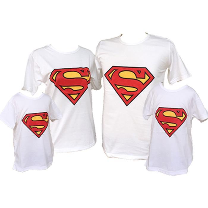 Murah  Baju Kaos Pasangan Keluarga Couple Family Anak Ayah Bunda Superman