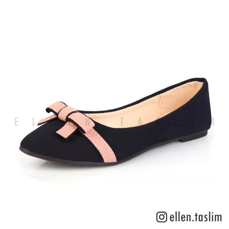 Ellen Taslim - Flat Shoes Balet Korea OM 01 - Hitam