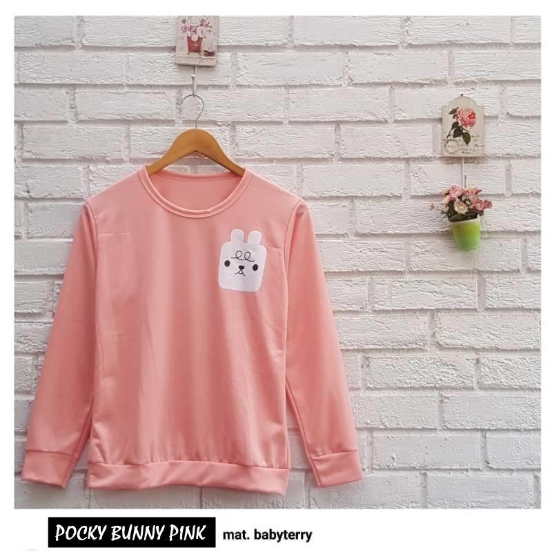 Rp 28.000. POCKY BUNNY ||| loekita ||| grosir jaket sweater baju atasan blouse rajut hijab terbaru kekinian wanita murahIDR28000