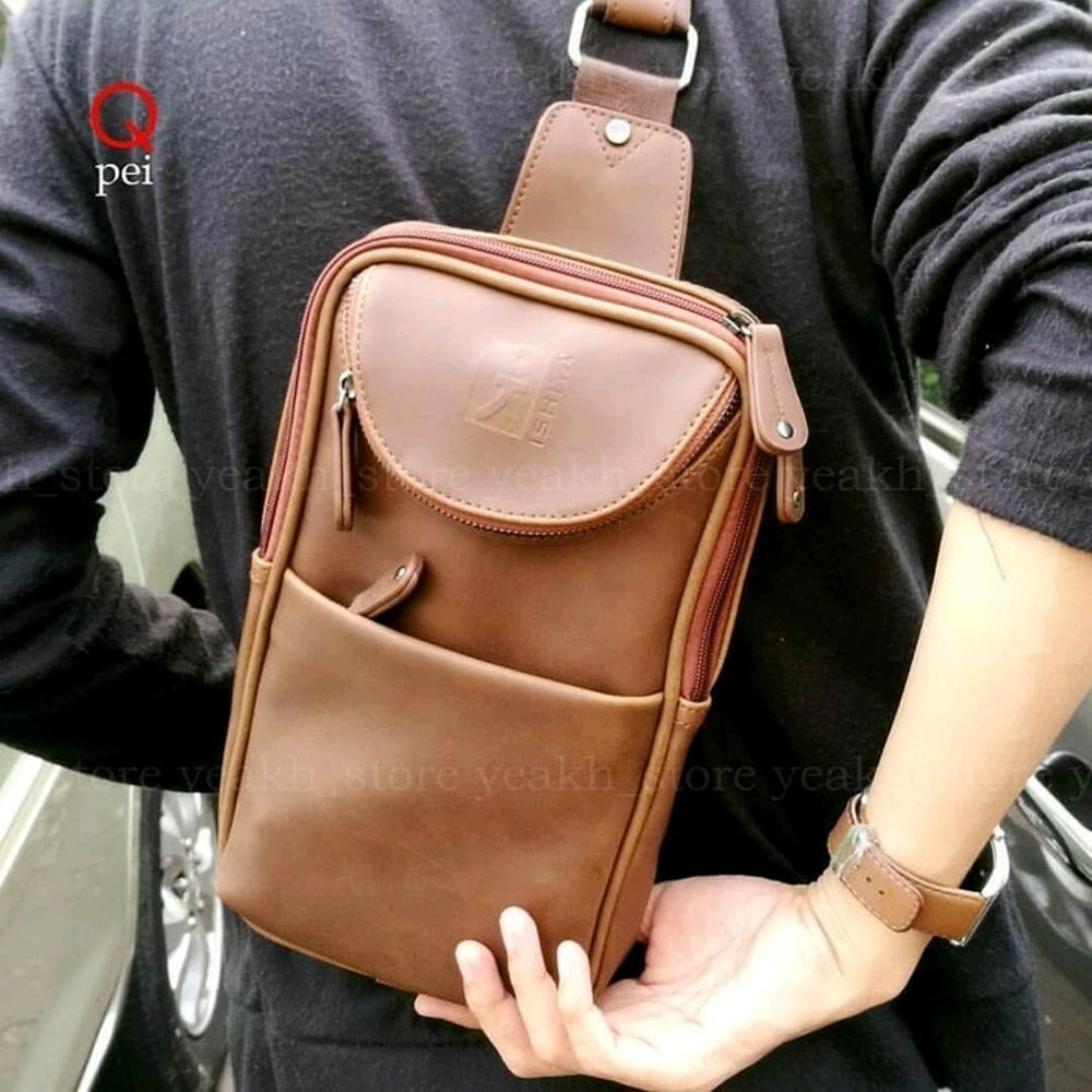 tas selempang pria - tas import murah - tas kulit kekinian - tas sekolah kuliah - tas branded wanita batam di lapak pelangi_bag bagusia08
