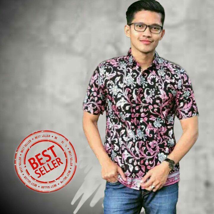 Kemeja Batik Pria Modern Kemeja Lengan Pendek Hem Batik