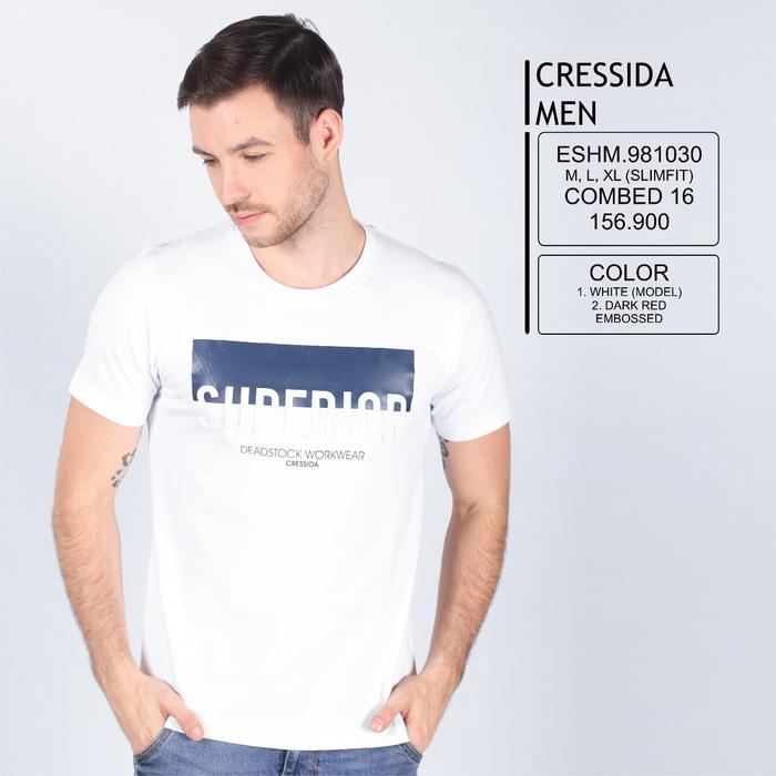 Best Seller!! Kaos Oblong Cressida Men - ready stock