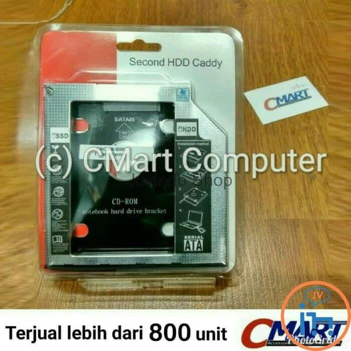 Harga Spesial!! Ssd Hdd Caddy Slim 9.5Mm Sata Dvd Slot Hardisk - Grc-Br-Hdsc95 - ready stock
