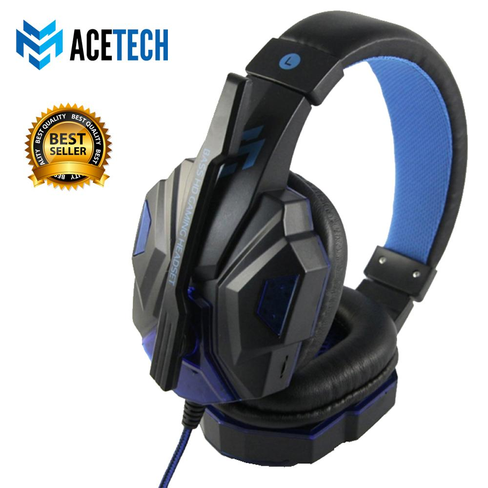 ACETECH Headset Headphone Gaming LED Untuk Komputer Laptop PC Games Premium Champion