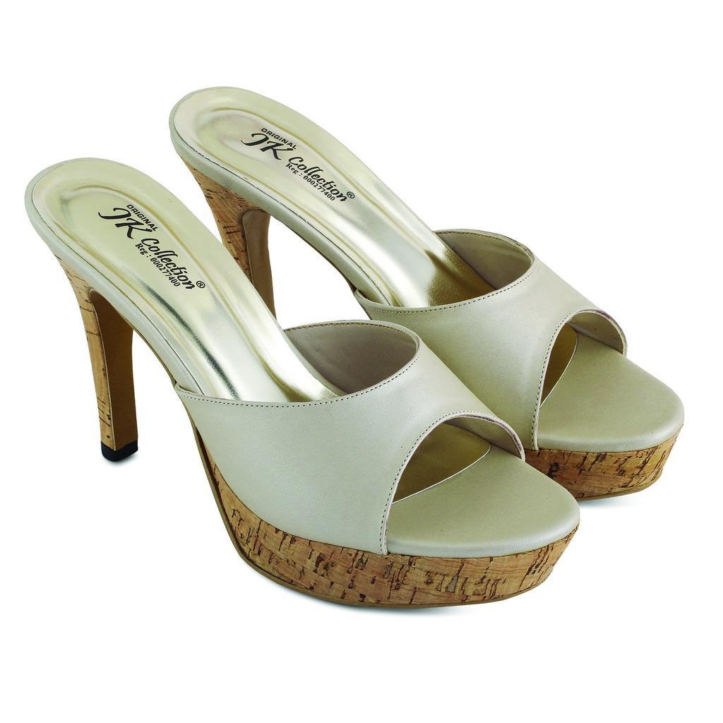 JK Collection Sepatu High Heels Wanita - Cream