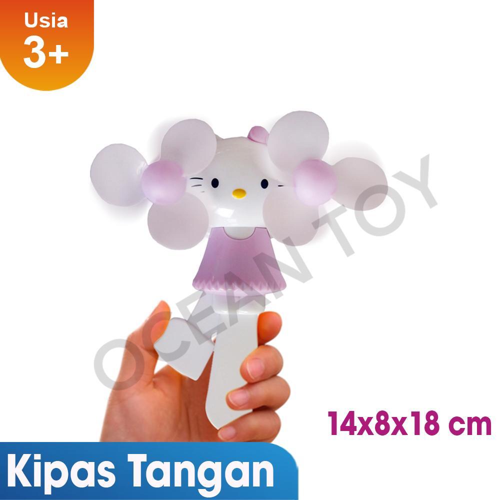 Mainan Pembelajaran Elektronik Terbaik Mao Celengan Atm Hello Kitty Kipas Angin Tangan Manual Karakter Murah