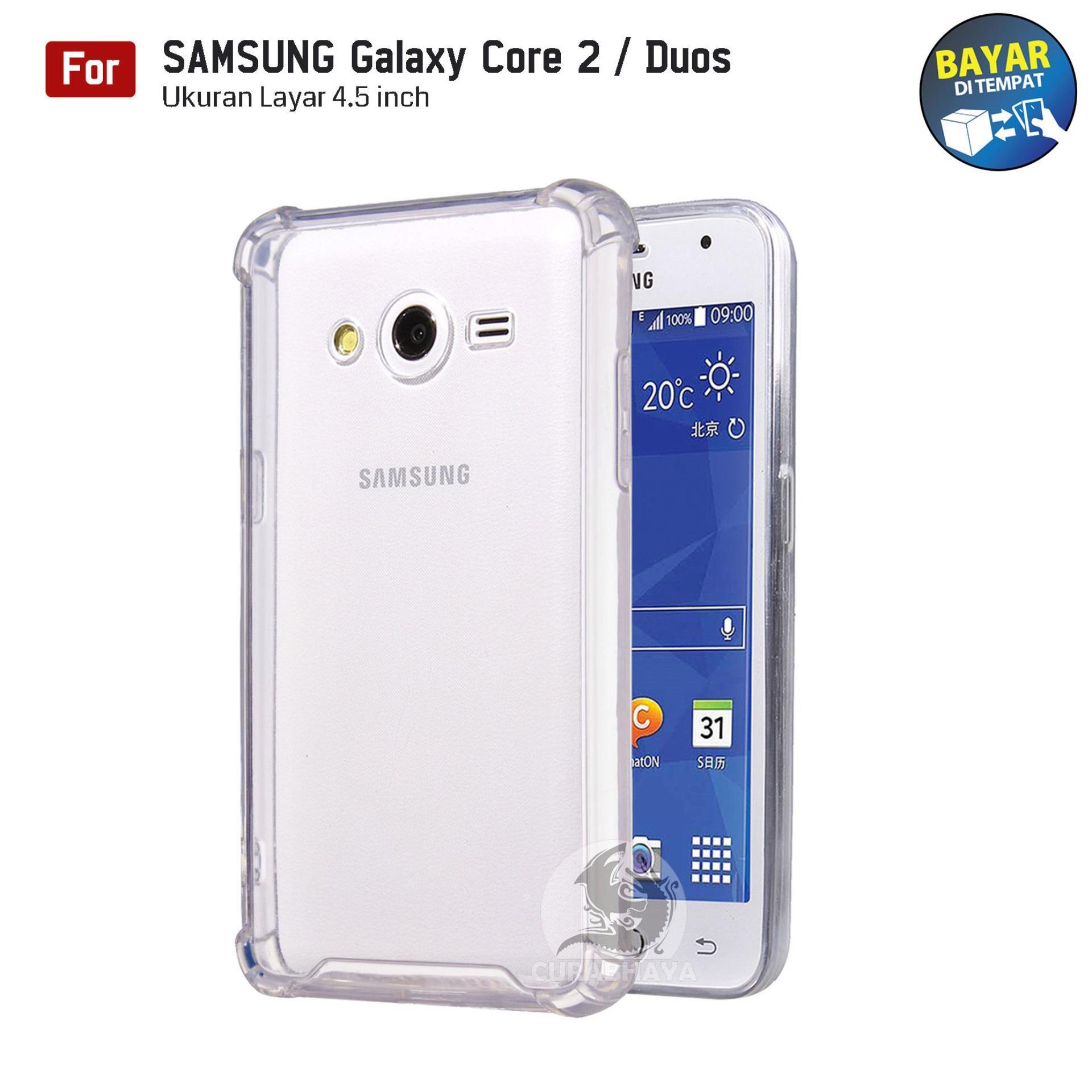 AirShock Samsung Galaxy Core 2 / Duos / G355 | Anti Crack Premium Softcase Cushion ShockProof - Bening