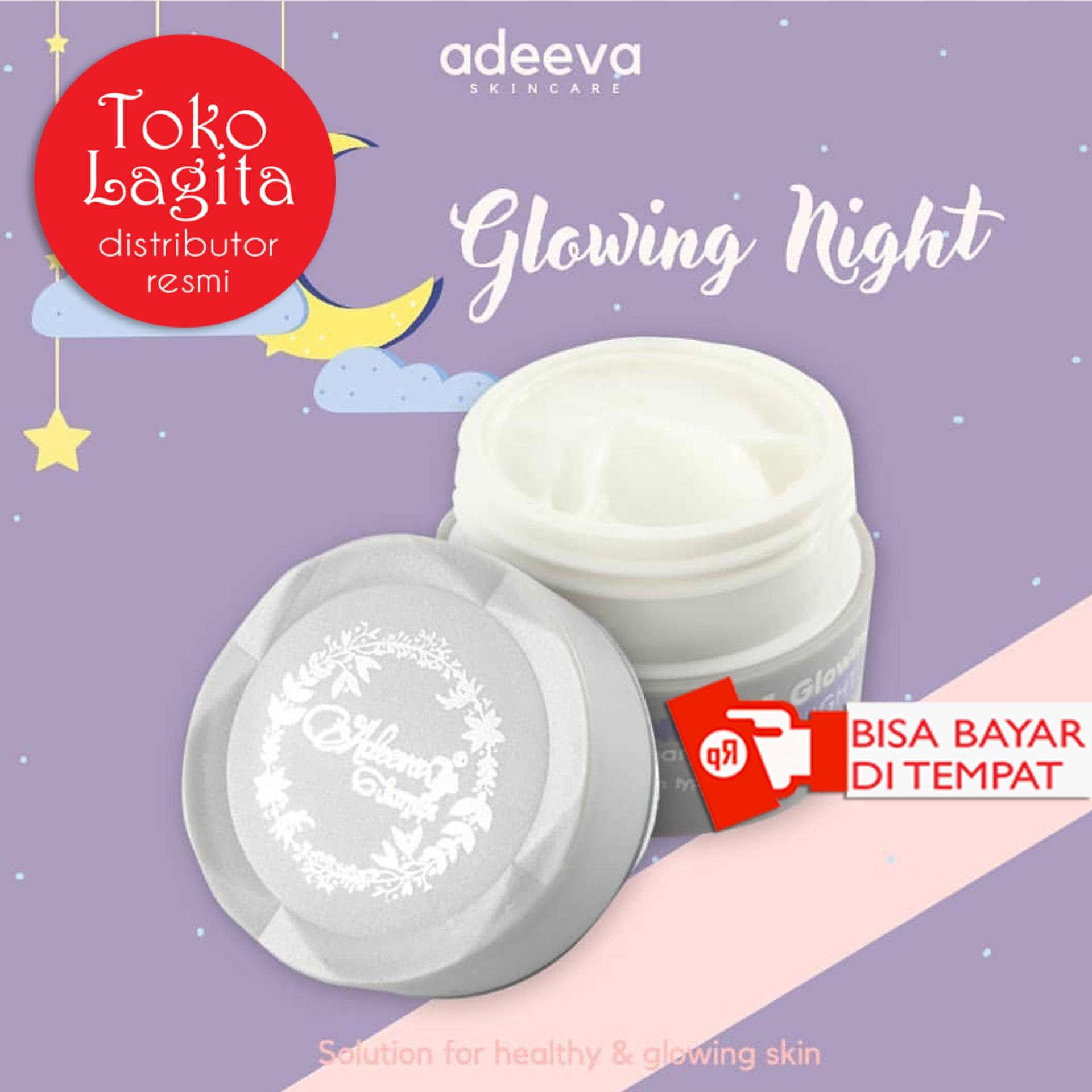 Adeeva Skincare Whitening Night Glowing - Cream Malam (1 Pcs)