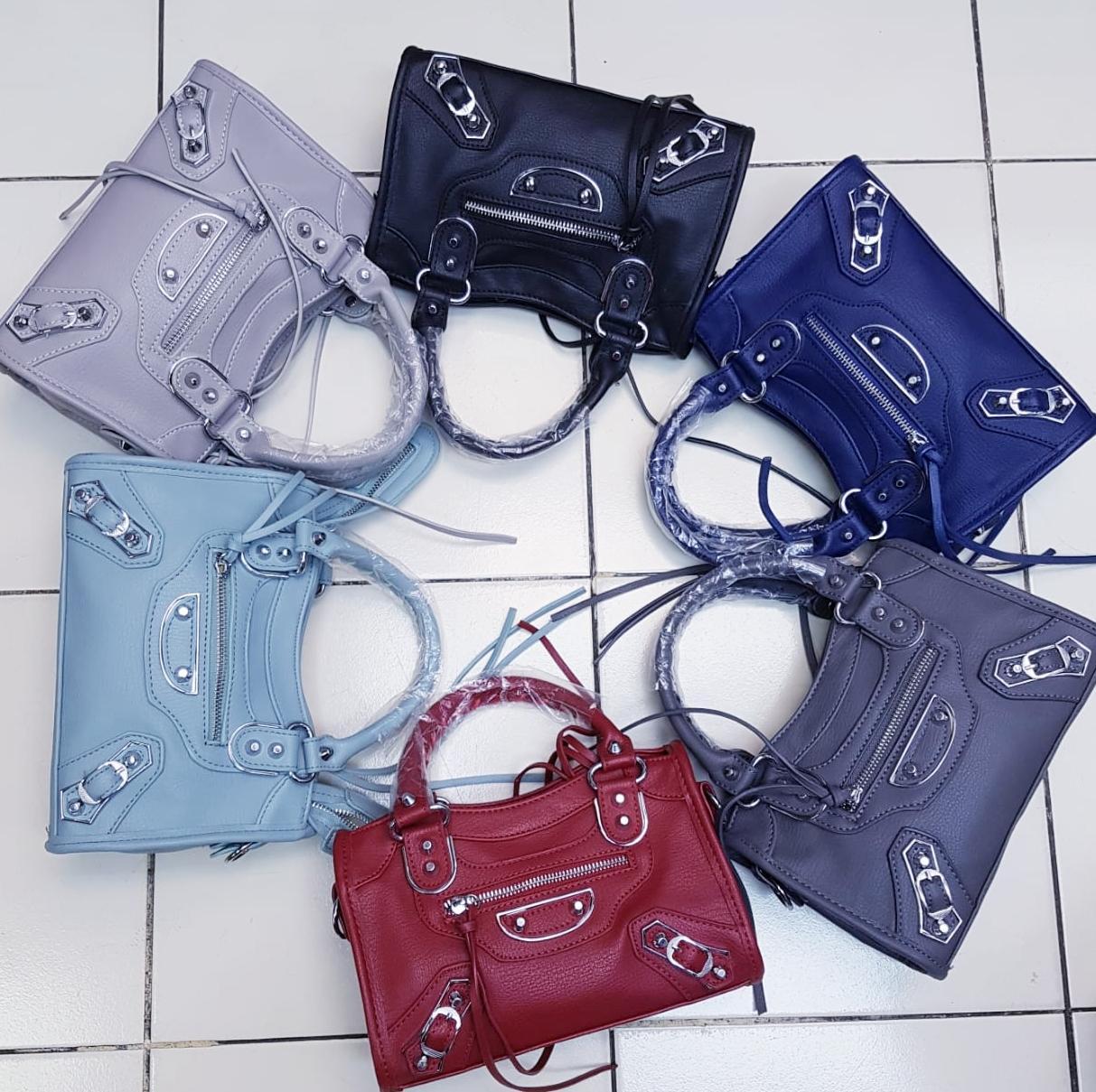 Tas balenciaga classic mini city bag SEMI PREMIUM(6WARNA HITAM/NAVY/ABU TUA/ABU MUDA/SOFT BLUE/MERAH)