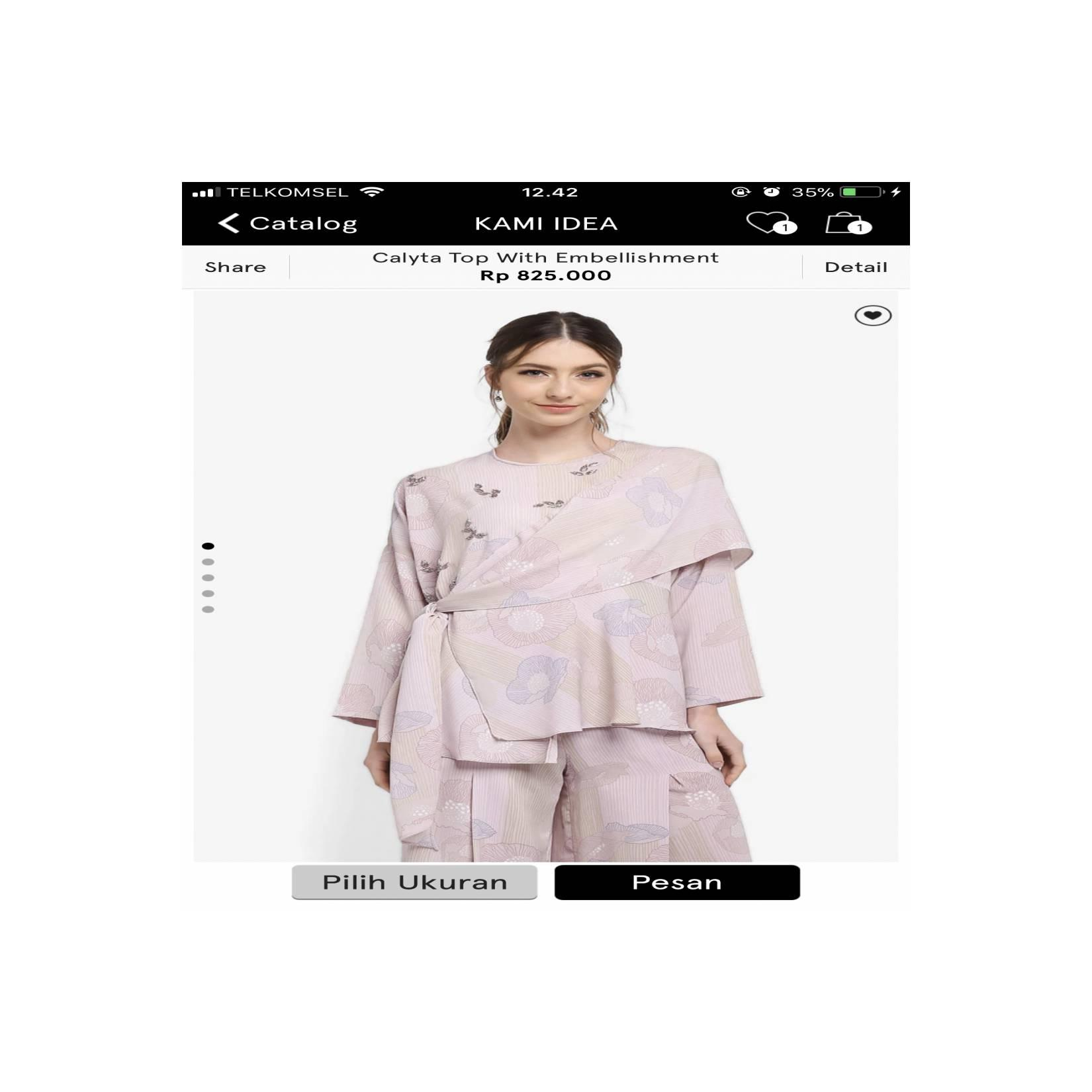Kami idea Signature X zalora