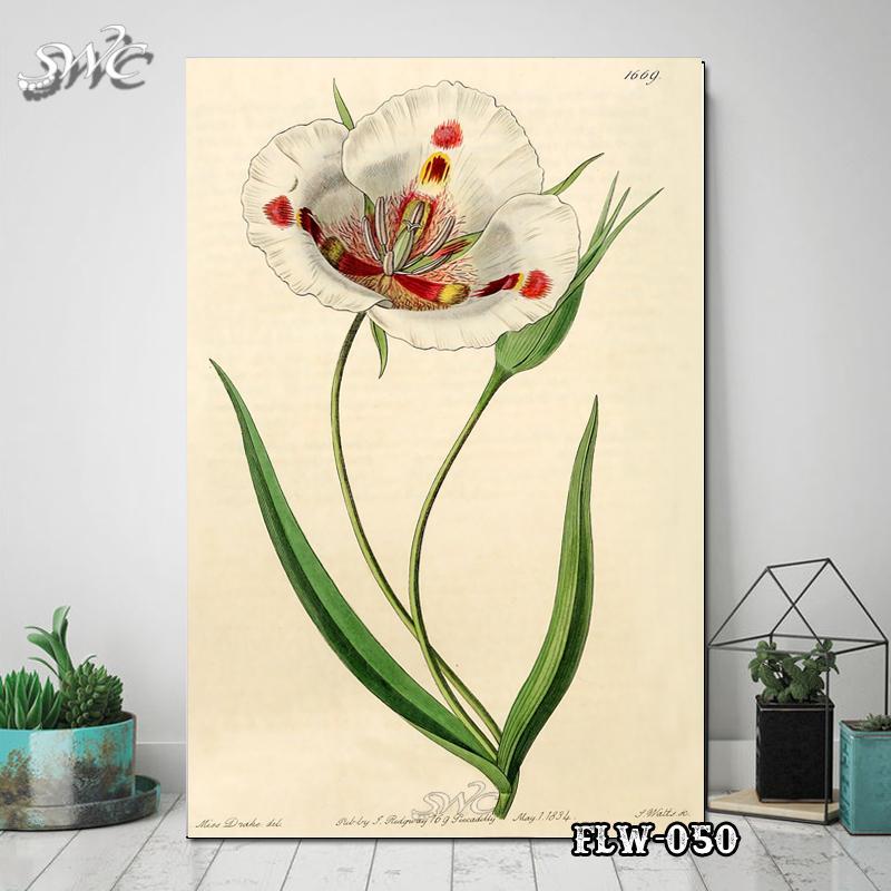 Hiasan Dinding Poster Kayu Quotes Flora Bunga Home Decor Rumah FLW050IDR35000
