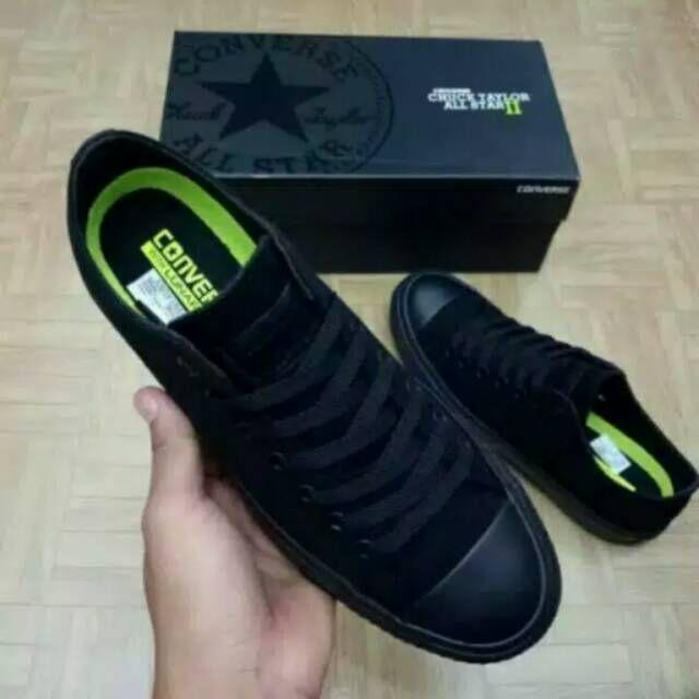 Sneakers Pria Converse Allstar Chuck Taylor Sepatu Hitam Original Import Sepatu Sekolah