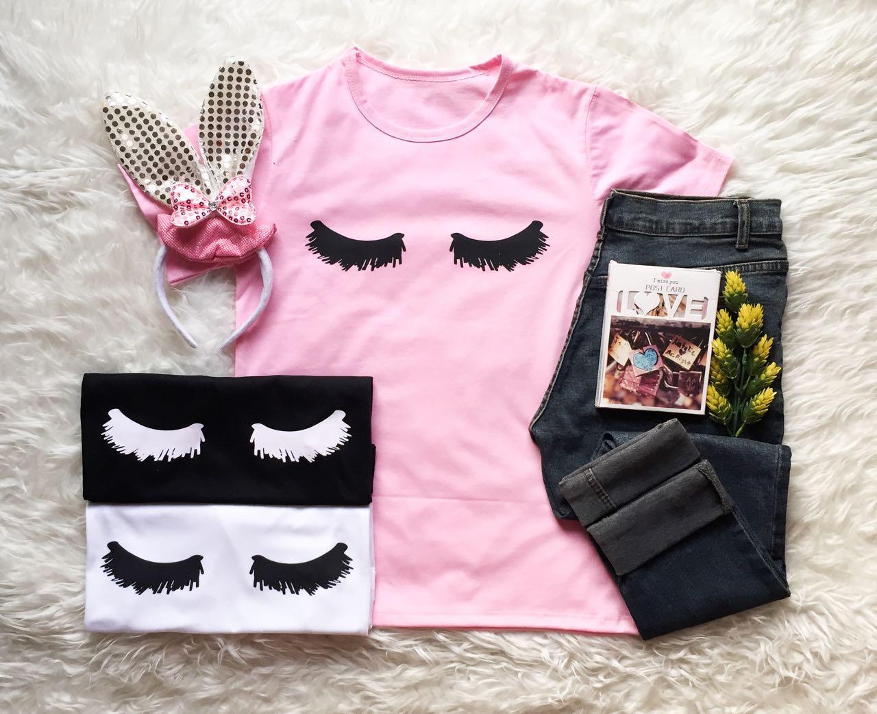KAOS BULU MATA # HAE2403 T-shirt Wanita / Kaos Cewek / Tumblr Tee Cewek