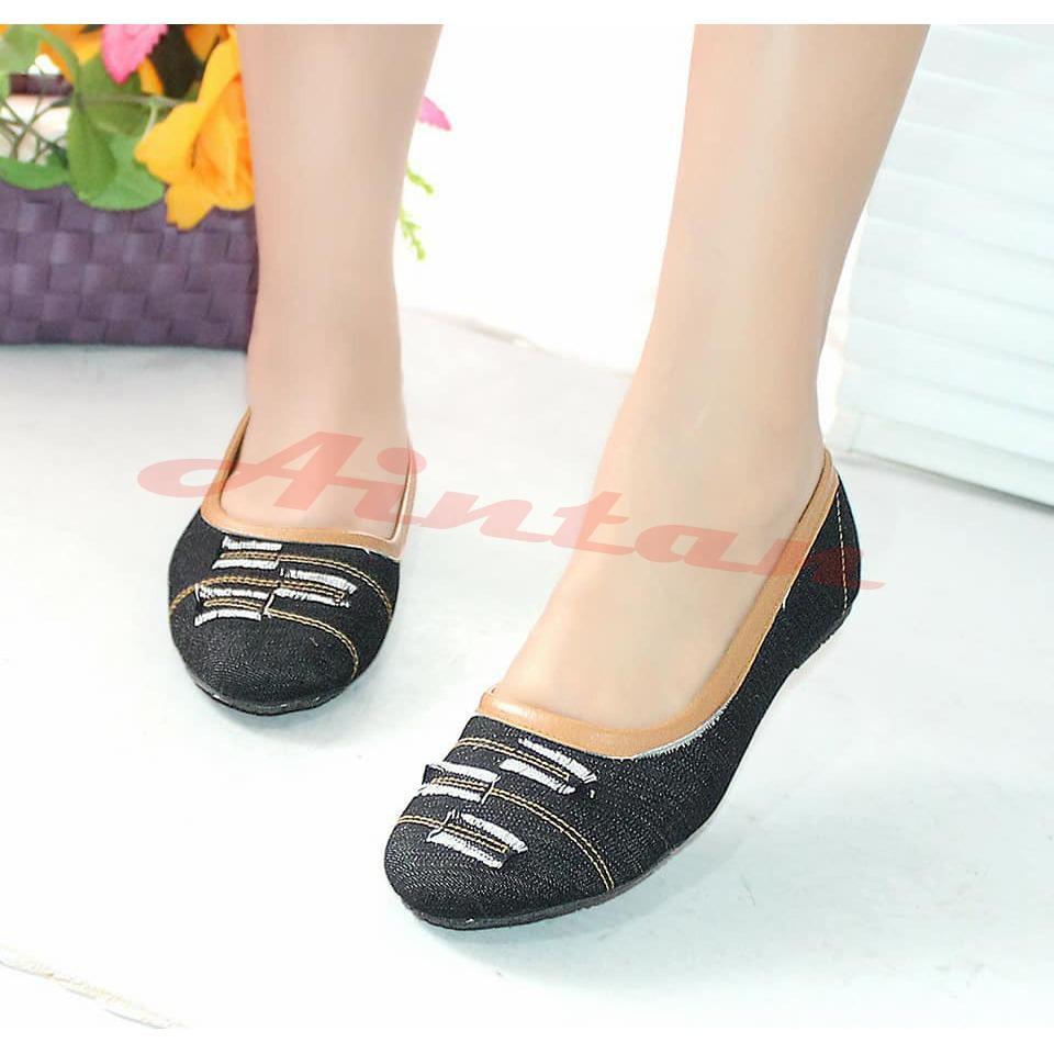 Aintan flat shoes develop Levis- sepatu slip on