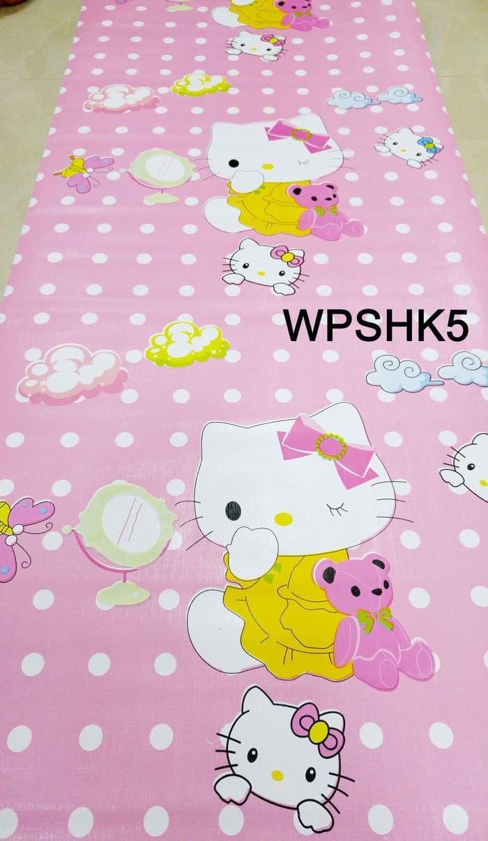 WALLPAPER STICKER 45CMX5M-WPSHK5-HELLO KITTY 5 M wallpaper stiker murah / wallpaper lucu
