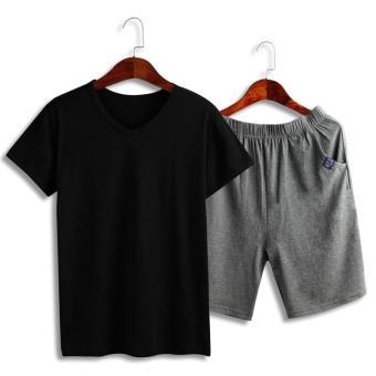 Beli sekarang Katun modal Pria baju tidur celana tidur Set Musim Panas  Tipis lengan pendek celana pendek Gaya Korea musim semi dan musim gugur  longgar ... 3e8653b1cd