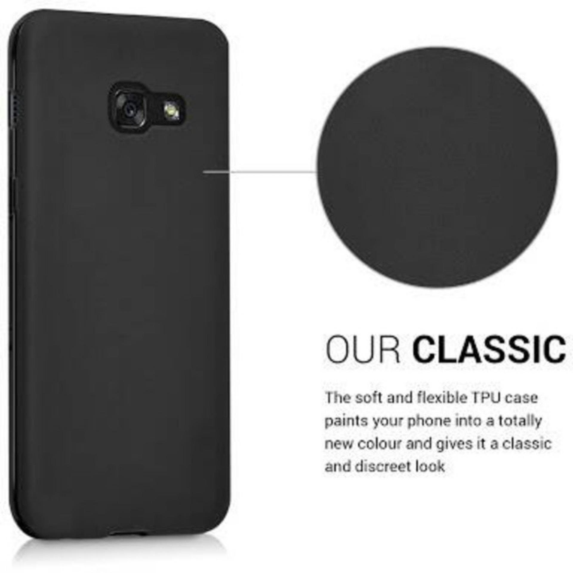 LOLLYPOP TPU Soft ECO Case Samsung Galaxy J1 Ace - Black/Hitam matte softcase silicon backcase matte jelly backcover case hp casing handphone ume baby skin soft touch