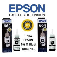 Tinta Epson T6641 (Black) - 2 Botol