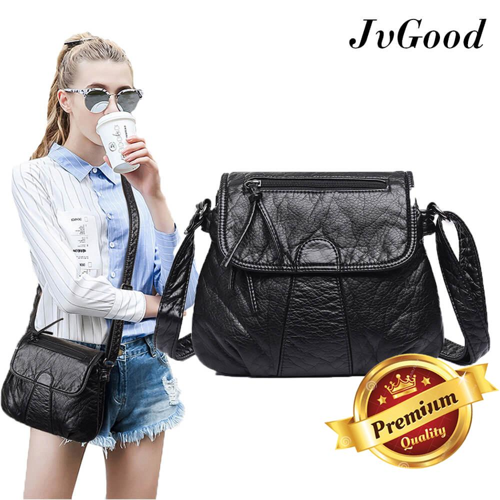 JvGood Tas Selempang Wanita Women Messenger Bags Crossbody Soft PU Leather Shoulder Bag High Quality Fashion Women Bags Handbags