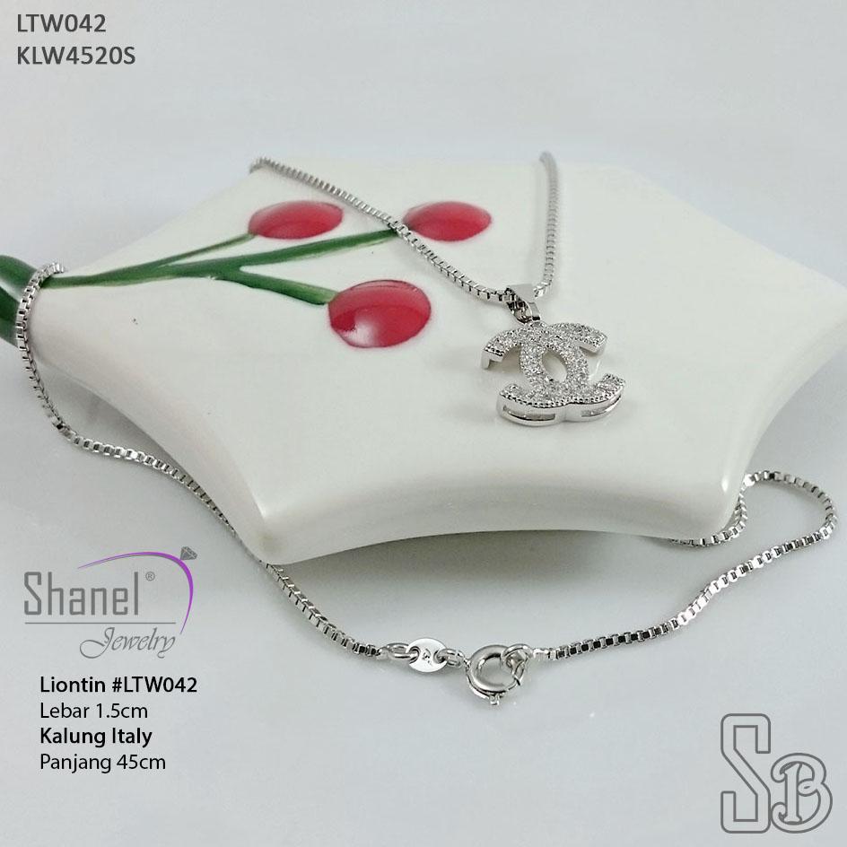 Xuping Jewelry Kalung CHANEL Eleganset kalung Italy  perhiasan premium LTW042