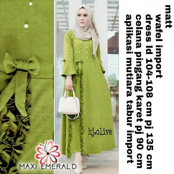 Emerald Set - Baju Muslim Murah Terbaru 2018 Grosir Pakaian Wanita Busana Pesta Modern Gamis Syari Maxidress Setelan Couple Tunik Atasan Blouse Celana Kulot Rok Khimar Hijab
