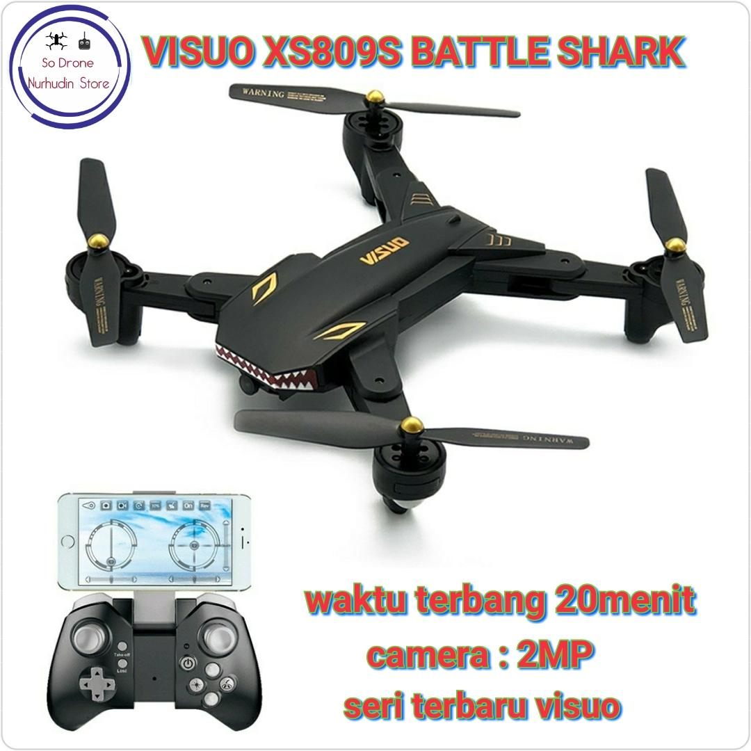 New Visuo Xs809s Battle Shark 2mp Camera By Nurhudinstore