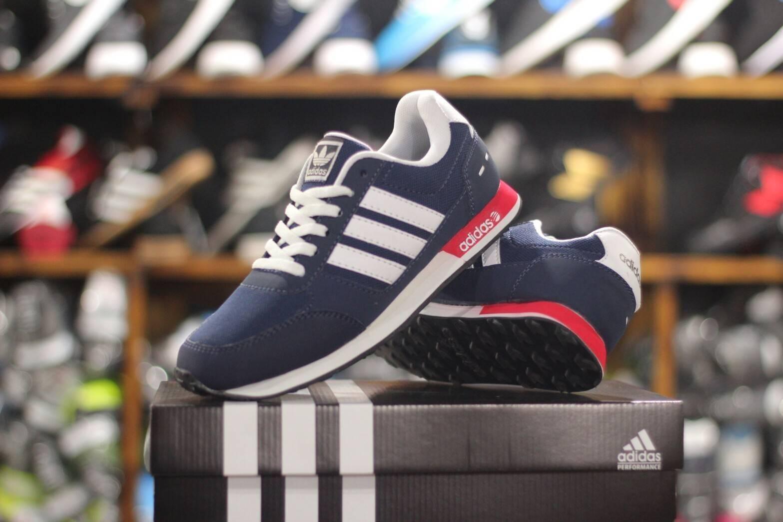 SEPATU JOGGING PRIA Adidas Neo Racer import  (Sepatu Olahraga, Sepatu Kerja, Sepatu Jalan, Sepatu S