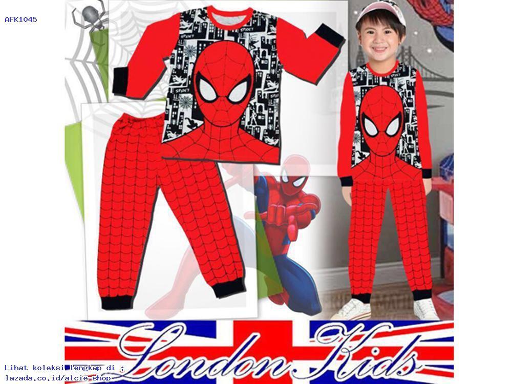 Setelan Piyama Baju Tidur Anak Laki Laki Spiderman Murah 1045 - AFK910