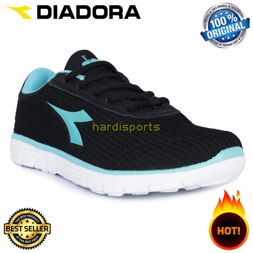 Sepatu Running Sneaker Wanita Diadora Elini (W) DIAX8F0106BB - Black Blue