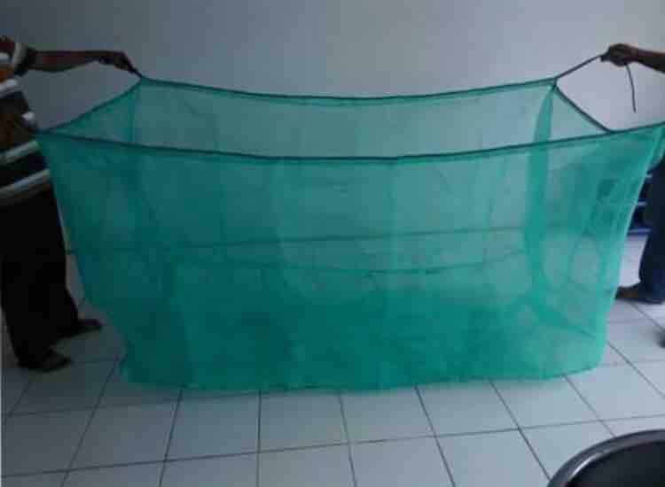 Keramba 3mx3mx1m jaring hijau ikan bibit benih tambak ikan