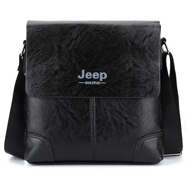 Jeep Tas Selempang Jinjing Kulit Maskulin Pria - PI504 - Black